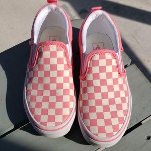 Girls pink Checkered Vans